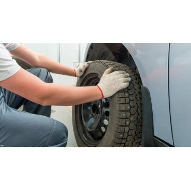 Montaje de neumático para vehículo de turismo